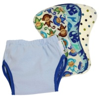 Best Bottom Cloth Nappy Potty Training Kit Blueberry
