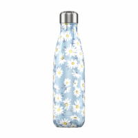 Chilly's Reusable Water Bottle 750ml Insulated for Hot and Cold Drinks Floral Daisy