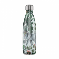 Chilly's Reusable Water Bottle 750ml Insulated for Hot and Cold Drinks Tropical Elephant