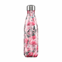 Chilly's Reusable Water Bottle 750ml Insulated for Hot and Cold Drinks Tropical Flamingo