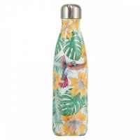 Chilly's Reusable Water Bottle 750ml Insulated for Hot and Cold Drinks Tropical Flower