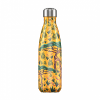Chilly's Reusable Water Bottle 750ml Insulated for Hot and Cold Drinks Tropical Giraffe