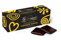 Divine Dark Chocolate Ginger Thins - Ethical, Fair Trade, No Palm Oil