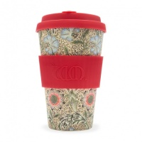 Ecoffee Reusable Coffee Cup - No Excuse For Single-Use - William Morris Collection Corncockle 14oz/400ml