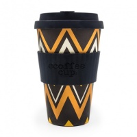 Ecoffee Reusable Coffee Cup - No Excuse For Single-Use - ZignZag 14oz/400ml