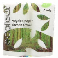 Ecoleaf 100% Recycled Paper 3 Ply Kitchen Roll with 100% Compostable Packaging