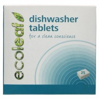 Ecoleaf All in One Dishwasher Tablets with Plastic Free Disolveable Film - 25s