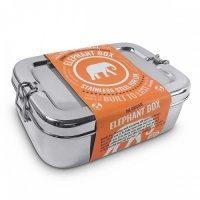 Elephant Box 1.8 Litre Stainless Steel Lunch Box No Plastic Easy to Clean