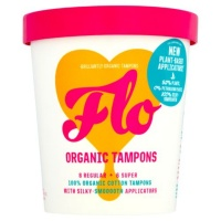 Flo Natural Organic Bamboo Eco Friendly Tampons - With Plant Based Applicator