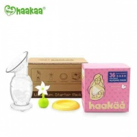 Haakaa New Mum Starter Pack with Haakaa Pump, Stopper, Lid and Nursing Pads