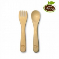 Haakaa Biodegradable Bamboo Fork and Spoon Set - No More Plastic!