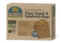 If You Care Compostable Paper Snack and Sandwich Bags 48s