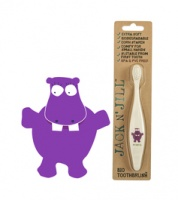 Jack n Jill Bio Toothbrush Compostable and Biodegradable Hippo