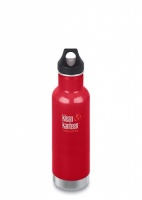 Klean Kanteen Classic Vacuum Insulated Stainless Steel Drinks Bottle - 592ml / 20oz Mineral Red
