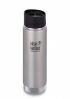 Klean Kanteen Wide Insulated Stainless Steel Drinks Holder - Perfect for Coffee or Cold Drinks 592ml/20oz Brushed