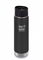 Klean Kanteen Wide Insulated Stainless Steel Drinks Holder - Perfect for Coffee or Cold Drinks 592ml/20oz Shale Black