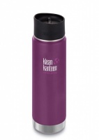 Klean Kanteen Wide Insulated Stainless Steel Drinks Holder - Perfect for Coffee or Cold Drinks 592ml/20oz Winter Plum