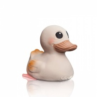 Hevea 3 in 1 Kawan Natural Rubber Duck - Playing / Teething / Bathtime Fun - No Plastic - No Mould