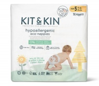 Kit & Kin High Performance Eco Friendly Nappies Size 5 - 11kg+/24lbs+ (30 nappies)