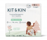 Kit & Kin High Performance Eco Friendly Nappies Size 6 -14kg+/31lbs+ (26 nappies)