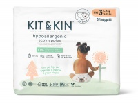Kit & Kin High Performance Eco Friendly Nappies Size 3 - 6-10kg/13-22lbs (34 nappies)