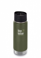 Klean Kanteen Wide Insulated Stainless Steel 3-in-1 Drinks Holder - Perfect for Coffee or Cold Drinks 473ml/16oz Fresh Pine