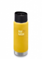 Klean Kanteen Wide Insulated Stainless Steel 3-in-1 Drinks Holder - Perfect for Coffee or Cold Drinks 473ml/16oz Lemon Curry