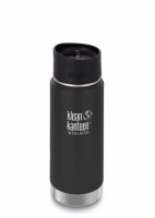 Klean Kanteen Wide Insulated Stainless Steel 3-in-1 Drinks Holder - Perfect for Coffee or Cold Drinks 473ml/16oz Shale Black