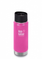 Klean Kanteen Wide Insulated Stainless Steel 3-in-1 Drinks Holder - Perfect for Coffee or Cold Drinks 473ml/16oz Wild Orchid