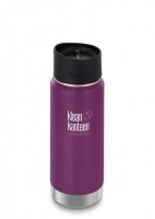 Klean Kanteen Wide Insulated Stainless Steel 3-in-1 Drinks Holder - Perfect for Coffee or Cold Drinks 473ml/16oz Winter Plum