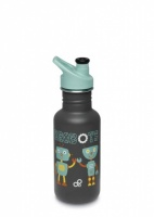 Klean Kanteen Classic Stainless Steel Reusable Water Bottle Kids - 532 ml / 18 oz - Brobots
