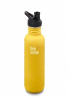 Klean Kanteen Classic Stainless Steel Reusable Water Bottle - 800ml / 27oz -  Lemon Curry