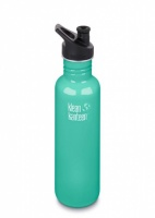 Klean Kanteen Brushed Classic Stainless Steel Reusable Water Bottle - 800ml / 27oz -  Sea Crest