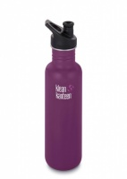 Klean Kanteen Brushed Classic Stainless Steel Reusable Water Bottle - 800ml / 27oz -  Winter Plum