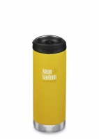 Klean Kanteen Insulated TK Wide - Perfect for Coffee or Cold Drinks On The Go 473ml/16oz Lemon Curry