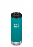 Klean Kanteen Insulated TK Wide - Perfect for Coffee or Cold Drinks On The Go 473ml/16oz Emerald Bay