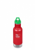 Klean Kanteen Kids Insulated Bottle - Perfect for Hot and Cold Drinks - 12oz/335ml Mineral Red