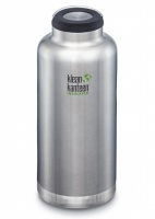Klean Kanteen Insulated TK Wide - Perfect for Coffee or Cold Drinks On The Go 1900ml/64oz Brushed Stainless Steel