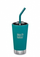 Klean Kanteen Insulated Tumbler - Perfect for Smoothies and Iced Drinks - 473ml/16oz Emerald Bay