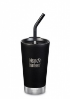 Klean Kanteen Insulated Tumbler - Perfect for Smoothies and Iced Drinks - 473ml/16oz Shale Black