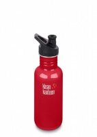 Klean Kanteen Classic Stainless Steel Reusable Water Bottle - 532 ml / 18 oz - Mineral Red