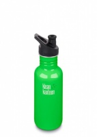 Klean Kanteen Classic Stainless Steel Reusable Water Bottle - 532 ml / 18 oz - Spring Green