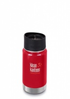 Klean Kanteen Wide Insulated 3-in-1 Drinks Holder - Perfect for Coffee or Cold Drinks - 355ml/12oz Mineral Red