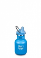Klean Kanteen Kids Sippy Water Bottle - Reusable BPA-Free Stainless Steel 12oz/335ml Pool Party