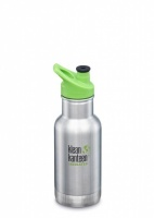 Klean Kanteen Kids Insulated Bottle - Keeps Drinks Cold - Brushed Stainless Steel 12oz/335ml