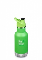 Klean Kanteen Kids Insulated Bottle - Keeps Drinks Cold - Stainless Steel 12oz/335ml Lizard Tails TINY DENT IN BASE