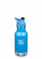 Klean Kanteen Kids Insulated Bottle - Keeps Drinks Cold - Stainless Steel 12oz/335ml Pool Party