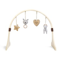 The Little Green Sheep Natural Wooden Baby Play Gym & Charm Set - Bear Love