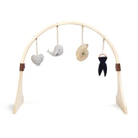 The Little Green Sheep Natural Wooden Baby Play Gym & Charm Set - Ocean Whale