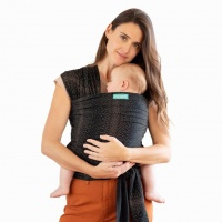 Moby Wrap Classic Stretchy Baby Carrier from Newborn  - Fleck